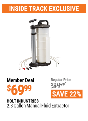 2.3 gallon Manual Fluid Extractor