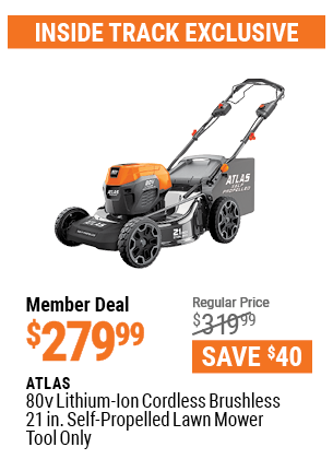 80V Lithium-Ion Cordless Brushless 21 In. Self-Propelled Lawn Mower - Tool Only