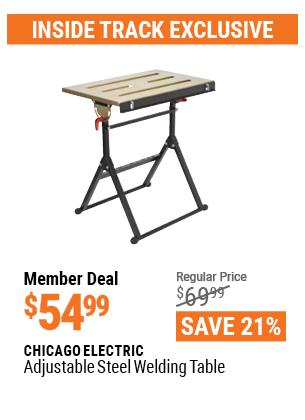 Adjustable Steel Welding Table