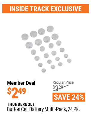 Button Cell Battery Multi-Pack, 24 Pk.