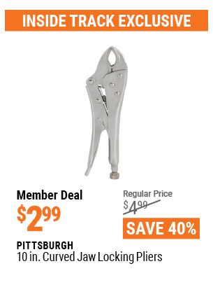 10 In. Curved Jaw Locking Pliers