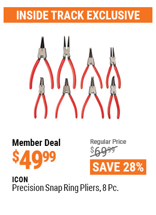 Precision Snap Ring Pliers, 8 Pc