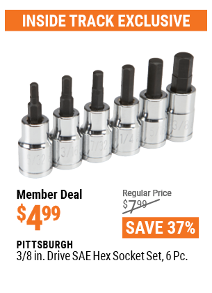 3/8 In. Drive SAE Hex Socket Set, 6 Pc.