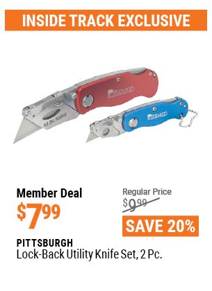 Lock-Back Utility Knife Set, 2 Pc.
