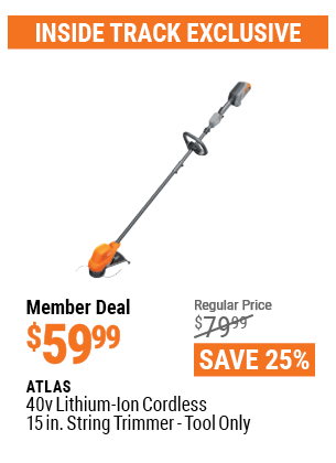 40V Lithium-Ion Cordless 15 In. String Trimmer  - Tool Only