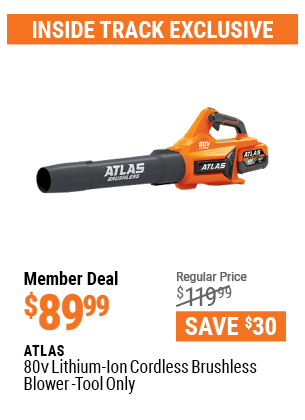 80v Lithium-Ion Cordless Brushless Blower - Tool Only