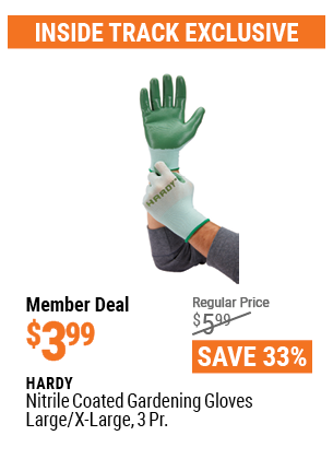 Nitrile Coated Gardening Gloves Large/X-Large, 3 Pr.
