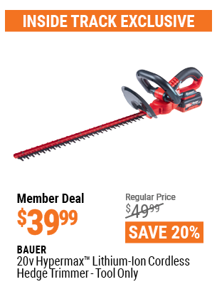 20v Hypermax™ Lithium-Ion Cordless Hedge Trimmer – Tool Only
