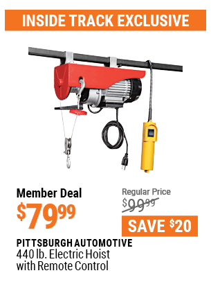440 Lb. Electric Hoist With Remote Control