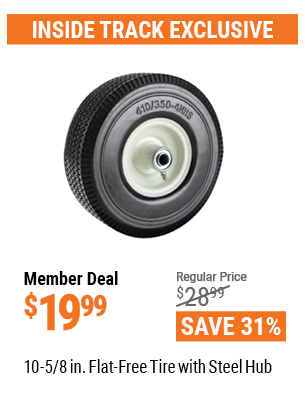 10-5/8 In. Flat-Free Tire With Steel Hub