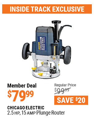 2.5 HP 15 Amp Plunge Router
