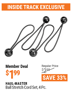 Ball Stretch Cord Set, 4 Pc.
