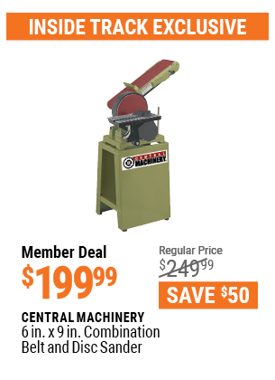 6 In. X 9 In. Combination Belt And Disc Sander