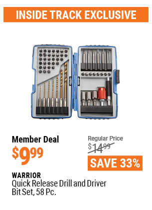 Quick Release Drill And Driver Bit Set, 58 Pc.