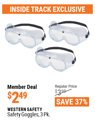 Safety Goggles, 3 Pk.