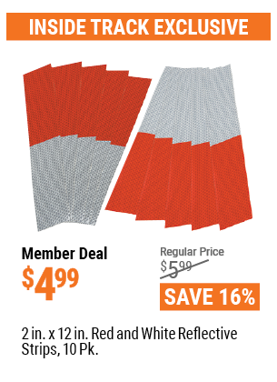2 In. X 12 In. Red And White Reflective Strips, 10 Pk.