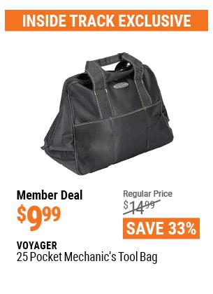 25 Pocket Mechanic's Tool Bag