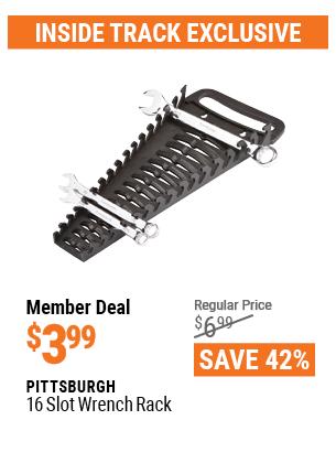 16 Slot Wrench Rack