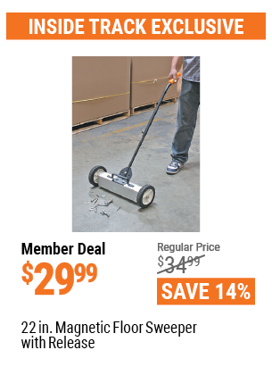 22 In. Magnetic Floor Sweeper With Release