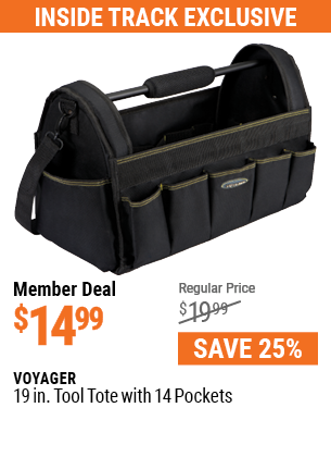 19 In. Tool Tote With 14 Pockets