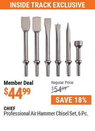 Professional 6 Pc. Air Hammer Chisel Set