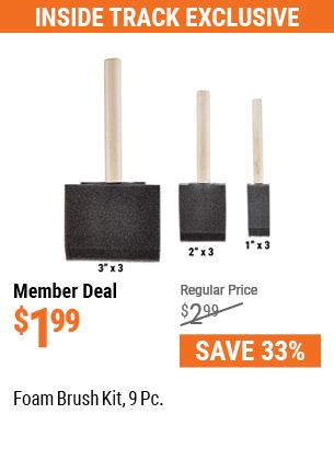 Foam Brush Kit, 9 Pc.