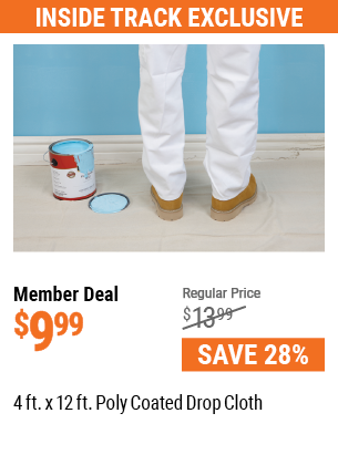 4 ft. x 12 ft. Poly Coated Drop Cloth