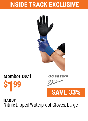 Nitrile Dipped Waterproof Gloves Large
