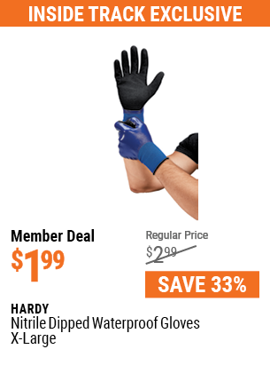 Nitrile Dipped Waterproof Gloves X-Large