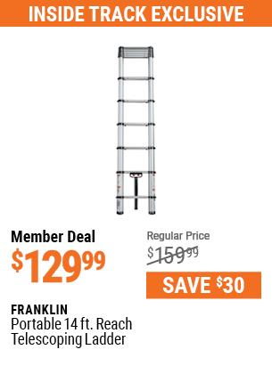 Portable 14 ft.  Reach Telescoping Ladder
