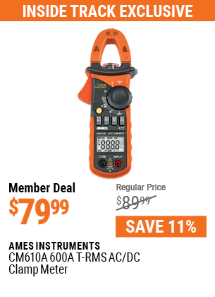 CM610A 600A T-RMS AC/DC Clamp Meter