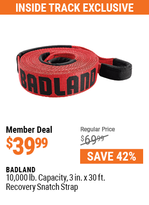 10,000 lb.  Capacity 3 in.  x 30 ft.  Recovery Snatch Strap