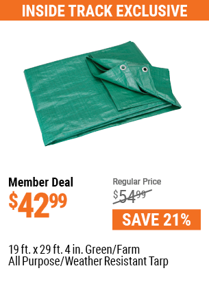 19 Ft. X 29 Ft. 4 In. Green/Farm All Purpose/Weather Resistant Tarp