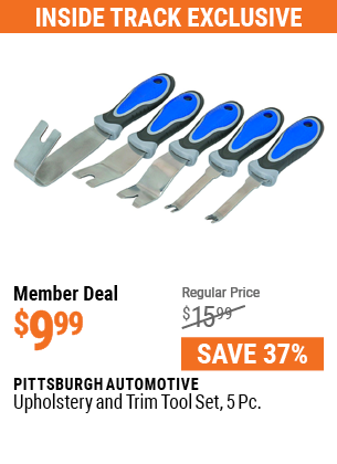 Upholstery and Trim Tool Set, 5 Pc.