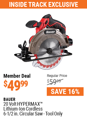 20V Hypermax™ Lithium-Ion Cordless 6-1/2 in. Circular Saw - Tool Only