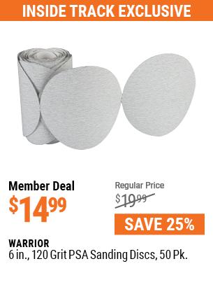6 in. 120 Grit PSA Sanding Discs 50 Pk.