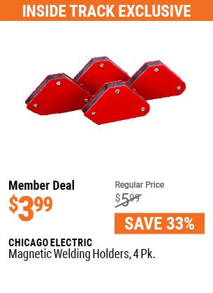Magnetic Welding Holders, 4 Pk.
