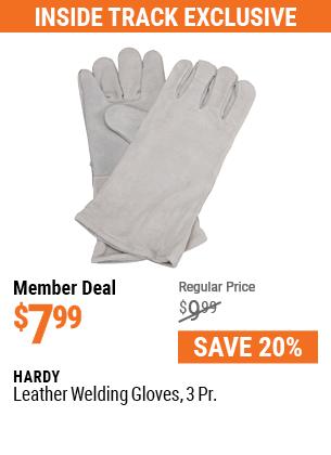 Leather Welding Gloves 3 Pr.