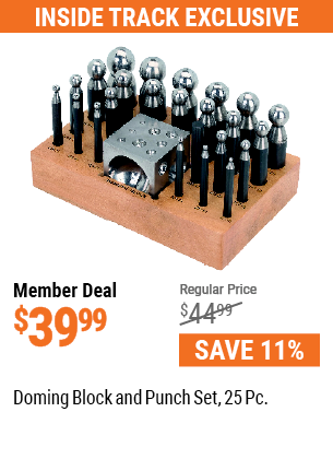 Doming Block and Punch Set, 25 Pc.