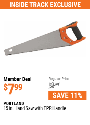 15 In. Hand Saw with TPR Handle