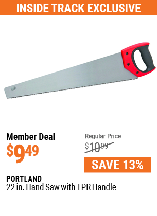 22 In. Hand Saw with TPR Handle