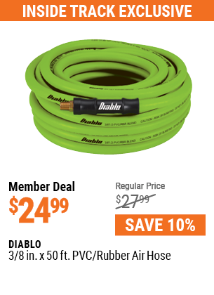3/8 in. x 50 ft. PVC/Rubber Air Hose