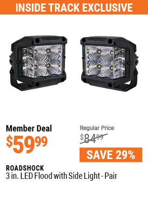 3 In. LED Flood with Side Light - Pair