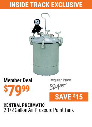 2-1/2 gal. Air Pressure Paint Tank
