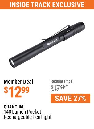 140 Lumen Pocket Rechargeable Pen Light
