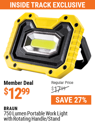 750 Lumen  Portable Work Light with Rotating Handle/Stand