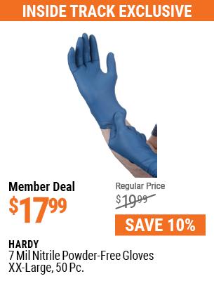 7 mil Nitrile Powder-Free Gloves, 50 Pc. XX-Large