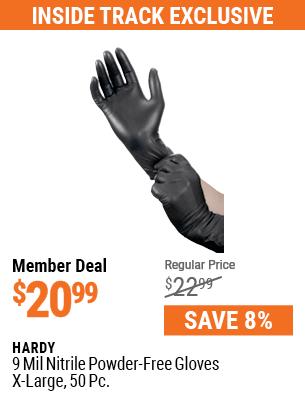 9 mil Nitrile Powder-Free Gloves X-Large, 50 Pc.
