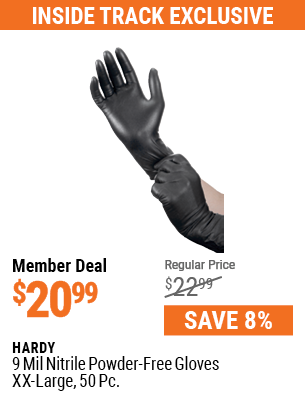 9 mil Nitrile Powder-Free Gloves XX-Large, 50 Pc.