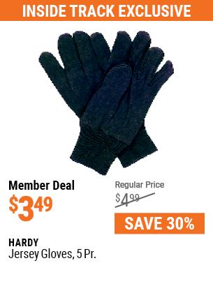 Jersey Gloves, 5 Pr.